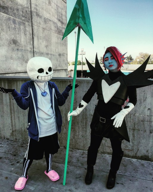 Sans and Undyne from Undertale